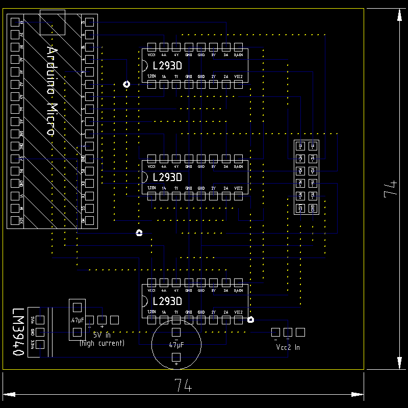 Low-res version of the Robot Arm Controller circuit board